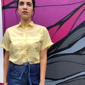 Tops - Vintage yellow button up